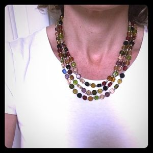 Colorful necklace, glass beads